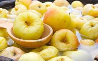Как мочить яблоки в банке антоновка рецепт