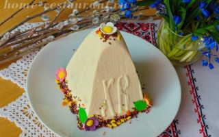 Творожная пасха со сгущенкой пошаговый рецепт с фото