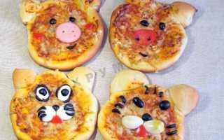 Что положить в детскую пиццу. Как приготовить пиццу детям: лучшие рецепты. Пицца с телятиной