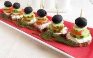 Закуски на праздничный стол с творожным сыром