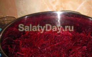 Заготовки салатов из свеклы на зиму рецепт