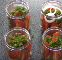 Салат из помидоров с луком на зиму
