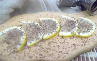 Закуска лимон с сыром и шоколадом