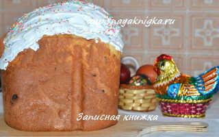 Необходимые ингредиенты для кулича в хлебопечке Панасоник на Пасху