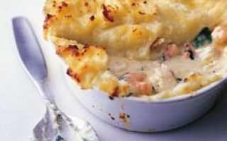Запеканка семга с картофелем рецепт с фото