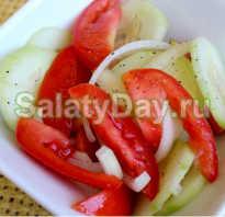 Как готовить салат из огурцов и помидоров