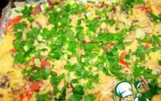 Мясо под сыром и майонезом в духовке