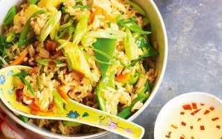 Как пожарить рис по китайски