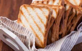 Как пожарить хлеб без тостера