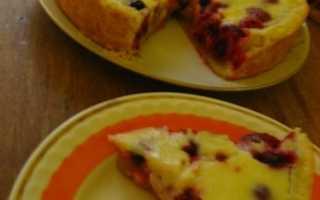 Заливные пироги с ягодами рецепты с фото