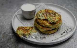 Кабачковые оладьи с рисовой мукой рецепт