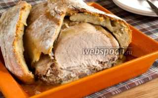 Запекание свинины в тесте в духовке