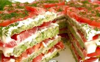 Кабачковый торт рецепт с помидорами и сыром