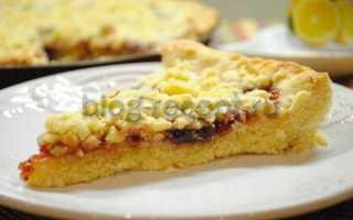 Сладкий пирог с абрикосовым вареньем. Тертый пирог из песочного теста с вареньем. Как испечь венское печенье с вареньем