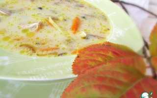 Как готовить сырный суп с шампиньонами