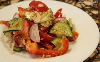 Заправка для салата с помидорами и огурцами