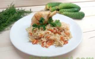 куриные голени с рисом в мультиварке