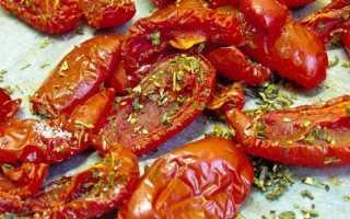 Как правильно вялить помидоры в духовке рецепт