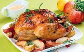 курица, запеченная в фольге в духовке целиком
