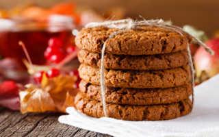 Овсяное печенье постное простой рецепт