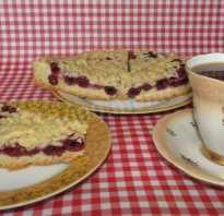 Пошаговый рецепт постного пирога с вишней