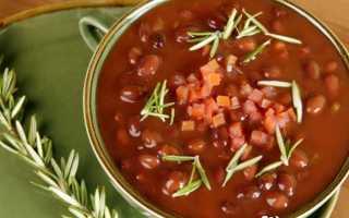Постный суп с фасолью рецепт без масла