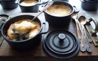 Жульен из свинины с грибами рецепт