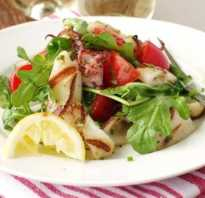 Постный салат с копченым кальмаром рецепт