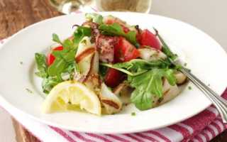 Постный салат из кальмаров без майонеза рецепт с фото