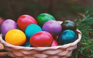 Покраска пасхальные яйца своими руками
