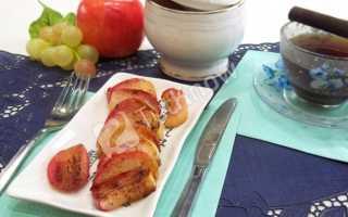 Как жарить яблоки на сковороде с сахаром