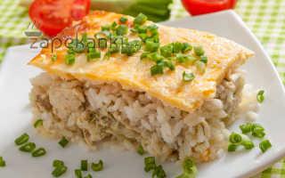 Запеканка рис курица сметана