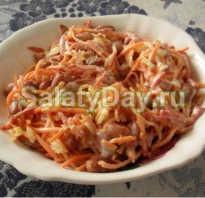 Салаты с колбасой и фасолью