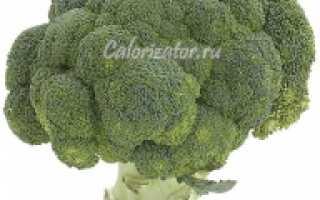 Калорийность капусты брокколи