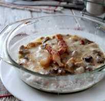 Жульен с мясом грибами и картошкой
