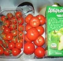 Заготовка помидор в яблочном соке