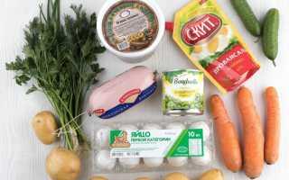 Ингредиенты салата оливье рецепт