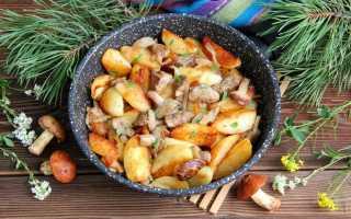 Как пожарить маслята с картошкой пошаговый