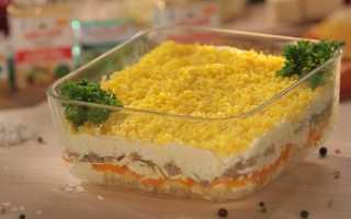 Ингредиенты салата мимоза с сыром