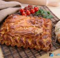 Постный дрожжевой пирог с грибами