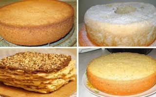 Как делать коржи для торта рецепт