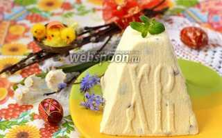 Рецепт Пасхи творожной сырой