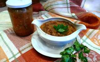Кабачковая икра с баклажанами рецепт на зиму