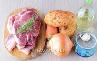 Запечь мясо с картошкой в рукаве