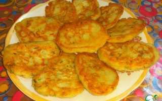 Постные оладьи из картофельного пюре