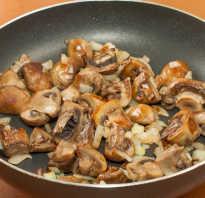 Как жарить отварные грибы на сковороде