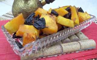 Запеченная тыква с сухофруктами и медом