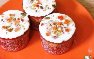 Сахарная глазурь без яиц для куличей пончиков ромовых бабок