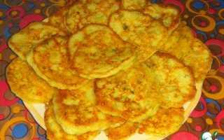 Кабачковые оладьи с творожным сыром