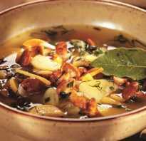 Простой постный суп с грибами